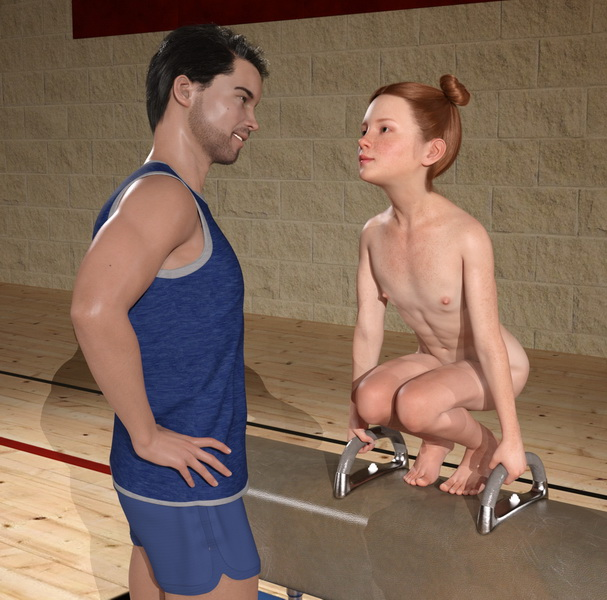 Shy Scarlet In Physical Education Class